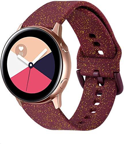 YASPARK Galaxy Watch Active2 40mm 44mm Correa de Reloj, 20mm Silicona Banda de Reemplazo Pulsera para Galaxy Watch Active 40mm 42mm/Gear S2 Classic/Vivomove/HR/Vivoactive 3/Forerunner 245/645