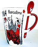 MR Tazza da caffè grande con motivo ballerina di fenicottero, Barcellona