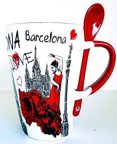 MR Taza DE Cafe Grande con Motivo BAILADORA DE Flamenco - Barcelona