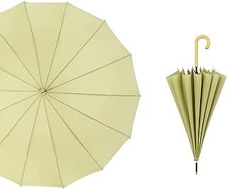 YQRYP Umbrella Automatic Straight Umbrella Long Handle Business Advertising Umbrella Double Reinforcement Windproof Windproof Umbrella, Golf Umbrella (Color : Green)