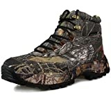 DFGRFN Botas tácticas Impermeables,Botas de Desierto Botas de Escalada,Bota de Selva cómoda con Cordones para Caminar,Zapatos Militares de Primavera y otoño,Black_B-40