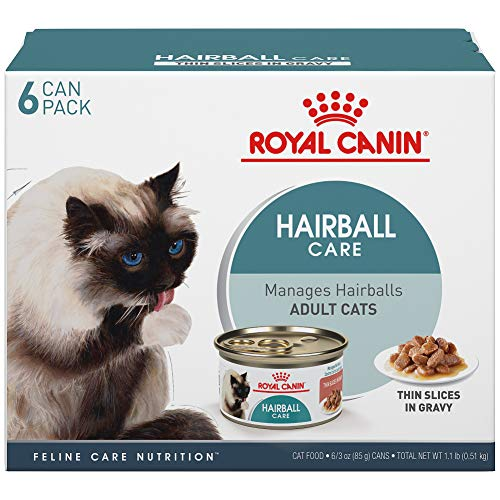 Royal Canin Hairball Care Thin Slices in Gravy Wet Cat Food, 3 oz. can, 6-pack