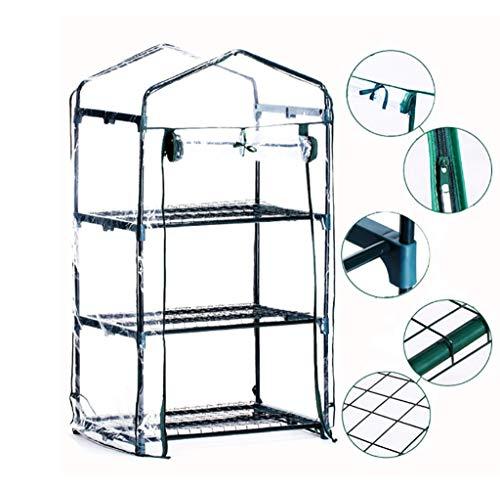 ZWWS-YJ Serre de Jardin en PVC à Effet de Serre et étagère à Cadre métallique - Transparent (Taille: 69 * 49 * 124 cm)