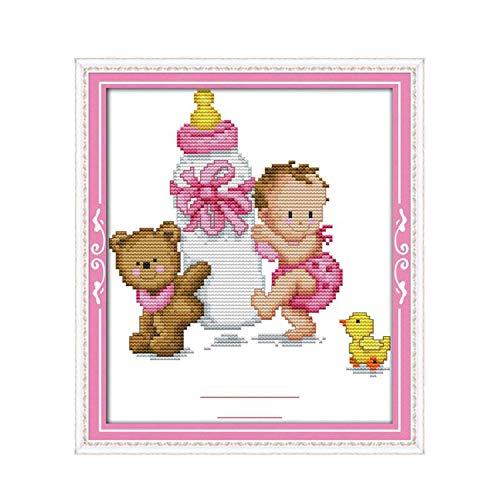 Bonito diseño de dibujos animados para botella de bebé, certificado de nacimiento,...