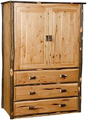Rustic Hickory Armoire/Wardrobe