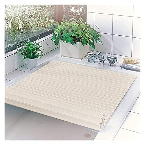 SYZHIWUJIA Bathtub Cover Bathtub Bathtub Cover Dustproof Plate Bathtub Insulation Cover PVC Bracket Bathtub Tray Bathroom Shelf-PVC Foldable Bathtub Cover Bathtub Tray (Size : 751201.2cm)