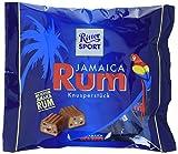 RITTER SPORT Rum Beutel (10 x 200 g), Knusperstückchen mit echtem Jamaica Rum, gefüllte Vollmilchschokolade, Tafelschokolade klein mit Rum-Aroma