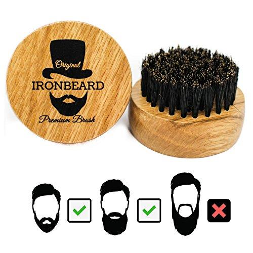 Bartbürste aus Eichenholz mit Wildschweinborsten mit Gratis Ebook Abbildung 2