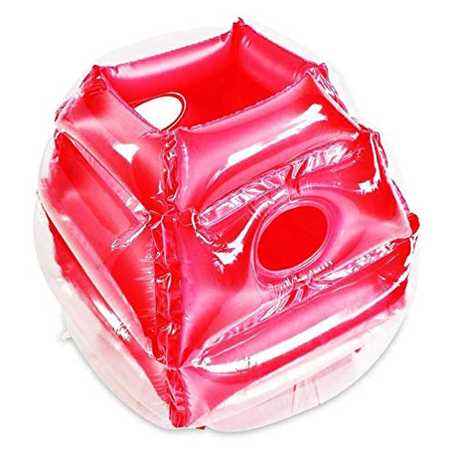 RXRENXIA Aufblasbare Körper Ball, PVC Wearable Aufblasbare Blase Ball-Spiel Bumper Ball Bounce Sumo-Anzüge Spielzeug Für Kinder Erwachsene Spiele Im Freien,Rosa