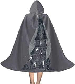 Khdkp Children's Cloak with Hood for Halloween, Role Play Halloween Decoration