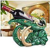 Casier à vin, décoration d'armoire à vin Statue en résine vin Maison Salon Accessoires de décoration d'armoire à vin de Bureau, émeraude