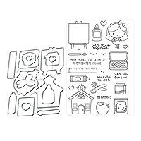 Marschao 木DIY金属切削ダイステンシルスクラップブッキングアルバム紙カードクラフト装飾 手動スキルを磨く