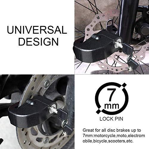 BangShou Bremsscheibenschloss mit Alarmfunktion 110dB Scheibenschloss Motorradschloss Ton für Motorrad und Fahrrad - 6