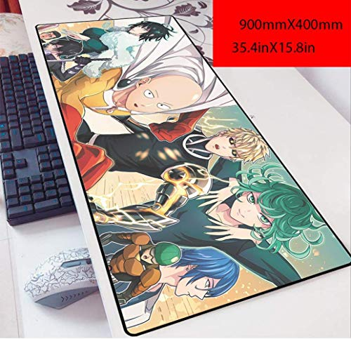 Tappetino mouse gaming tappetino mouse xxl Star Wars Mouse Pad Internet Cafe Gaming Pad 900x400x3 tavolo pad Anime migliorare gaming mouse pad, P. (Color : J)
