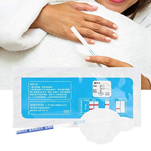 Tira de prueba de embarazo temprana de 5 piezas, probador de orina HCG Resultado temprano Prueba de embarazo Pantalla rápida Resultado de alta sensibilidad para mujeres adultas Pruebas caseras
