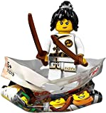 THE LEGO® NINJAGO® MOVIE™ 71019 Minifigur Spinjitzu Training Nya mit 1x GALAXYARMS Saigabel und 1x Katana in Gold (Spinjitzu Training N)