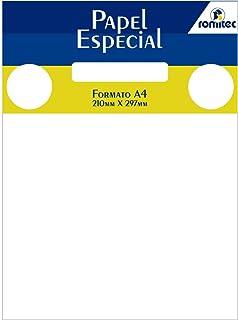 Papel Especial A4, Romitec, 4125R, 50 Folhas, Branco