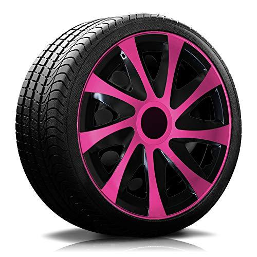 16 Zoll RKK04 Multi-Color Line (Schwarz-Pink) Radkappen/Radzierblenden 4 Stück