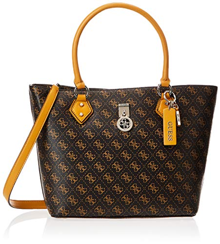 Guess Jensen Society Tote, Bags Crossbody Donna, Brown, One Size