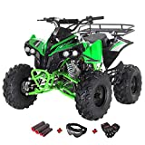 X-Pro 125cc ATV Quad Youth 4 Wheeler 125cc Adults ATVs Quads 4 Wheelers with Gloves, Goggle and Handgrip (Green)