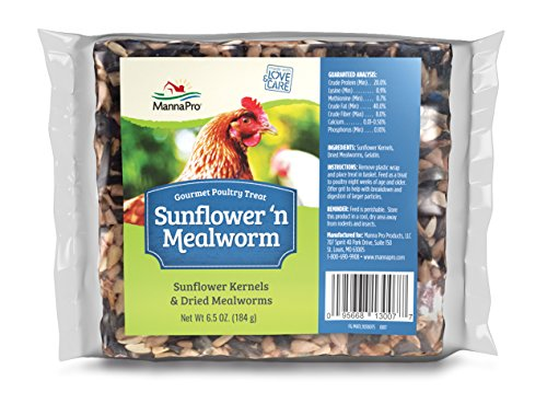 Manna Pro Sunflower and Mealworm Snack Cake | Rich in nutrients | 6.5 OZ