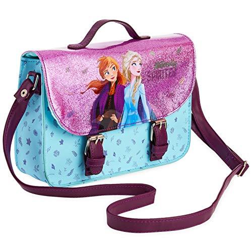 Disney Frozen Handtasche für Mädchen, Schultertasche mit Disney-Prinzessin Anna und Elsa, Glitzer-Umhängetasche, Modische Tasche für Mädchen zum Ausgehen oder Reisen