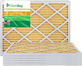 FilterBuy 20x25x1 MERV 11 Pleated AC Furnace Air Filter, (Pack of 6 Filters), 20x25x1 – Gold