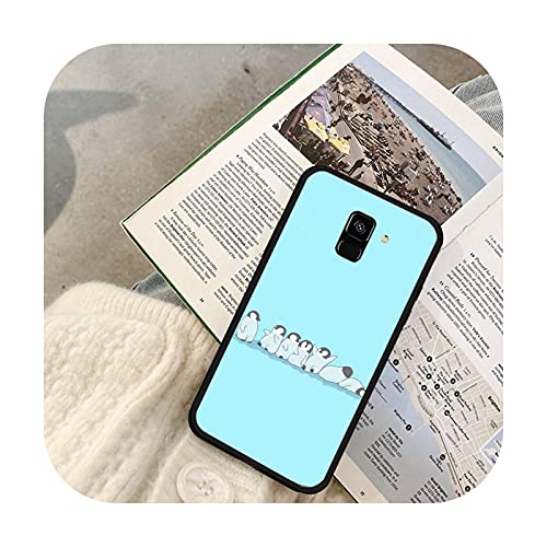 Fundas lindas del teléfono del pingüino para Samsung S7 Edge S8 S9 S10 Plus S10 Lite 5G S20 ULTRA Plus-a7-para Samsung S9