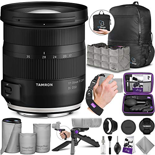 Tamron 17-35mm f/2.8-4 DI OSD Lens for Canon EF with Altura Photo Essential Accessory and Travel Bundle