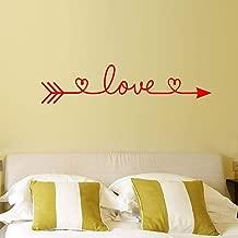 UDPBH Diy Text Sticker Heart Pattern Wallpaper Love Arrow Art Sticker Wall Poster Vinyl Mural Home Room Decor Sticker