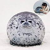 RAINBEAN Almohada de Sello Chubby Seal Pillow Juguete de Peluche Suave Ocean Animal Cojín Relleno Cutton. Linda Mascota de Peluche para niños