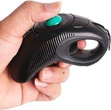 Handheld Trackball Mouse Wired Ergonomic Finger USB Mice for PC Laptop Mac Right Left Handed User (Black)