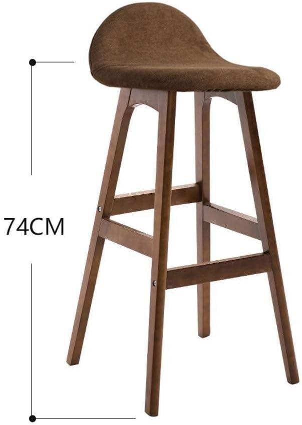 Chaise de bureau Chaise haute rembourrée en bois de chaise de bar dinant la chaise de loisirs à la maison de chaise (Color : Gray) Green