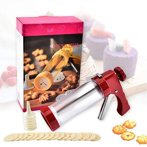 LaceDaisy Presse per Biscotti Pistola sparabiscotti per Dolci con trafile Cookies Maker Biscotto Stampa/glassa Che Decora Gun Set per Decorazione della Torta con Dischi e ugelli di tubazioni