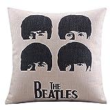 UOOPOO Cotton Linen Decorative Pillowcase Throw Pillow Cushion Cover the Beatles Head Square 18'