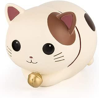 YSLON Cute Kitten Piggy Bank,Kids Money Bank,for Boys and Girls Gifts,Desktop Decor.(White)