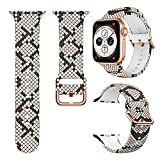 Magwei Sport Band Compatible with Apple Watch Bands 38mm 40mm 42mm 44mm,Soft Silicone Fadeless Pattern Printed Replacement Band Compatible for Apple Watch Series 6/5/4/3/2/1 (Snakeskin, 38mm/40mm)