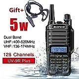 ChaserDe Walkie Talkie UV-9R Plus 15 W VHF UHF Walkie Talkie Comunicación de Radio bidireccional de Mano de Doble Banda (Negro, 15w)