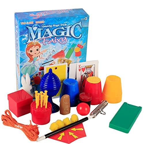 klikko Magic Kit Magician Tricks Set,Suitcase Include Prank Magic Card,Wand,Ball for Kid Age 6 Years Old and Up,Easy Magic Show Toy Brother Friend Gift Idea,Birthday Set for Teen Boy Girl