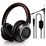 Philips Audio Fidelio L2 Over-Ear Open-Air Headphone 40mm Drivers + NeeGo Attachable Microphone for Headphones - Gaming and Communication