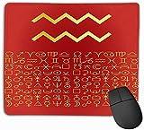 vbndfghjd 777 Custom Mouse Pad, 11,81 x 9,84 Zoll einzigartige gedruckte Mauspad Design Wassermann Grußkarte