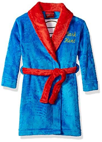 DC Comics Boys' Big Superhero Plush Velvet Fleece Robe, Superman, 2T