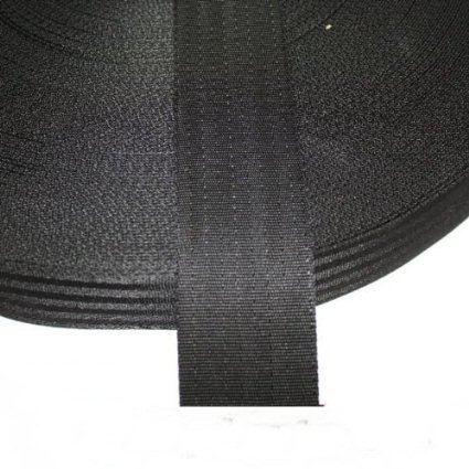Polypropylene 2 Webbing Assorted Colours Black 10 meter x 50mm Handy straps