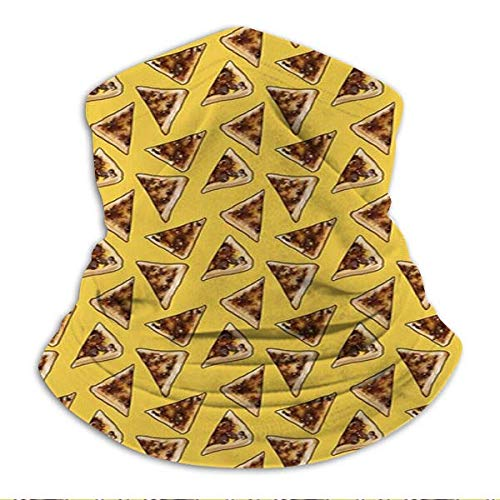 Rcdeey Australian Breakfast Food, Yeast On Toast in Yellow, Large Microfiber Neck Warm Turban Scarf Headgear Neck Men And Women Women Outdoor Sports