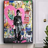 wojinbao Arte Moderno de Pared de lonaLove Graffiti Street Art Abstract Canvas ng Posters and Prints Cuadros Dog y Pop Wall Art Picture Home Decor