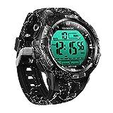 100m Digital Sumergible Impermeable Nadando Reloj de Pulsera con Funciones de Alarma y Cronómetro, Soporte Zona Horaria Dual, Temporizador de Cuenta Regresiva, Formato de 12/24 Horas