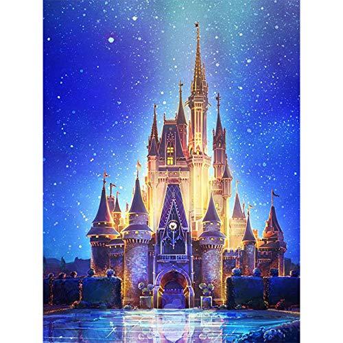 DIY 5D diamant schilderijen, kristal strass volledige diamant sticker schilderij ijs kasteel borduurwerk foto DIY strass kunst ambachtelijke canvas voor thuis Décor, 12X16Inch