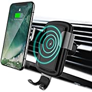 licheers Wireless Car Charger, Gravity Car Mount Wireless Charger Phone Holder for iPhone X/8/8 Plus Samsung Galaxy S8, S8 Plus, S7, S7 Edge, S6 Edge Plus, Note 8