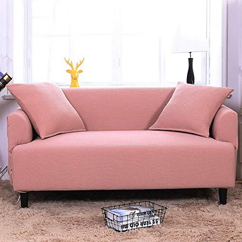 HXTSWGS Housse de Canapé d'angle,Elastic Sofa Cover, Living Room Sofa Cover, Elastic Furniture Cover-Deep Pink_190-230cm