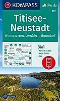 KOMPASS Wanderkarte Titisee-Neustadt 1:25 000: 3in1 Wanderkarte 1:25000 mit Aktiv Guide inklusive Karte zur offline Verwendung in der KOMPASS-App. Fahrradfahren. Langlaufen.